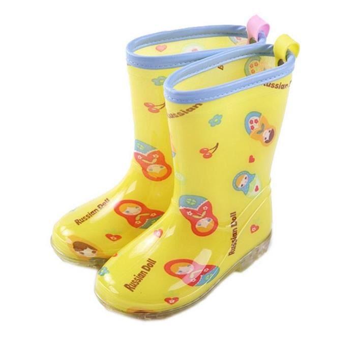 Mode bottes de pluie / enfant botte de pluie, Matriochka jaune / 19.5 cm