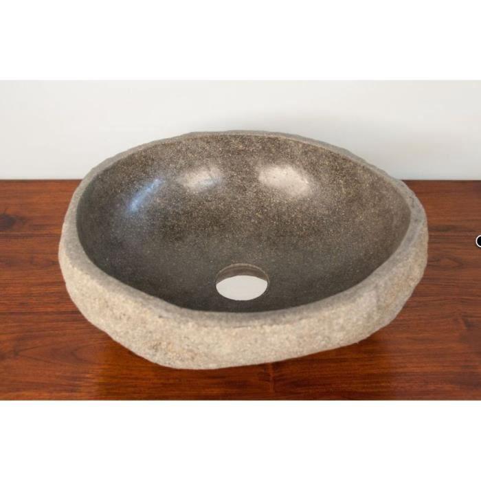 vasque en pierre pas cher Vasque à poser en pierre 30 à 40cm