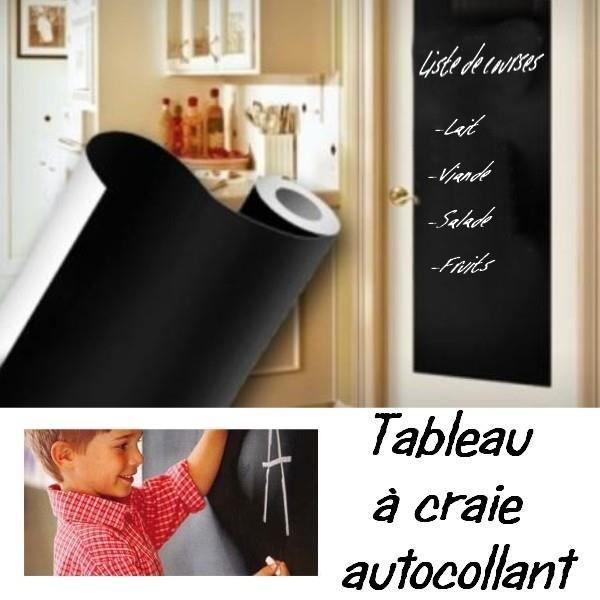 rouleau tableau noir adhesif craie decoupable 45x2 achat vente stickers soldes d s le 27. Black Bedroom Furniture Sets. Home Design Ideas