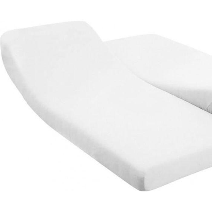 Drap housse 160x200 cm pour lit électrique arti…   Achat / Vente
