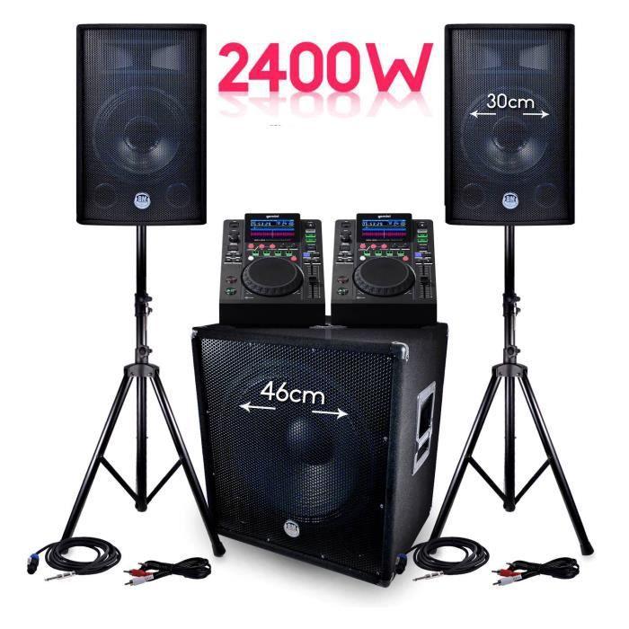 PACK SONO PACK Sono BMS-1812 2400W SUB 46cm - 2 enceintes 30