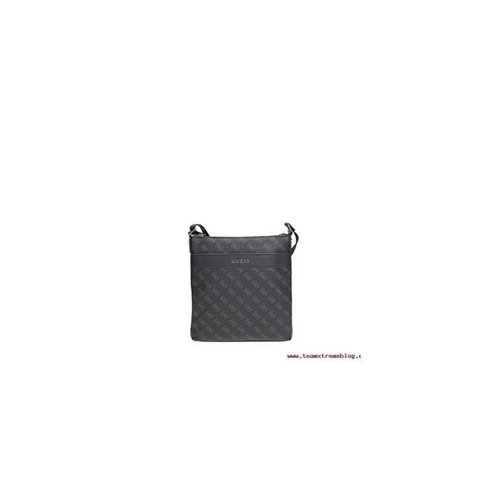 Guess Sacoche Homme Uptown Logo Crossbody Gris Achat