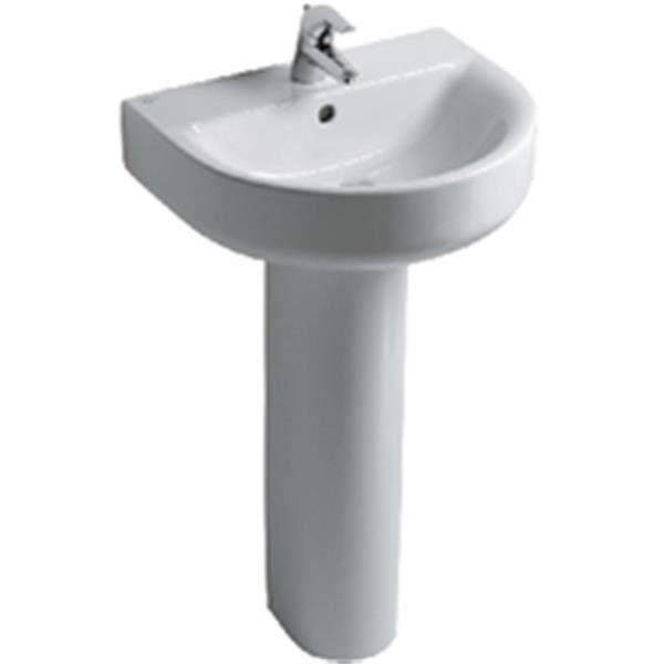 Ideal standard colonne connect pour lavabo cube blanc r f for Lavabo salle de bain american standard