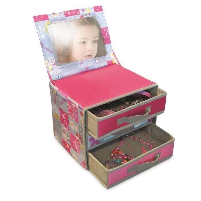 my note deco bo te bijoux noa pour enfant achat vente petit rangement cdiscount. Black Bedroom Furniture Sets. Home Design Ideas