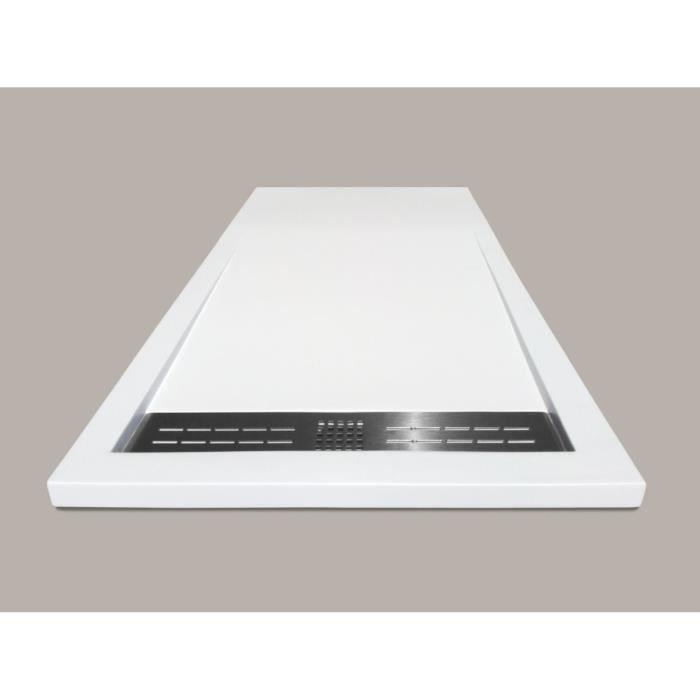 Mitola receveur de douche rectangulaire poser spirit 160 x 80 cm r sine composite blanc - Receveur de douche 160 x 80 ...