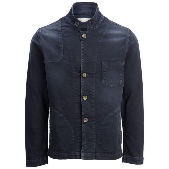8f739ce08fc86 Veste en jeans Selected Poul Bleu - Achat   Vente veste - Cdiscount