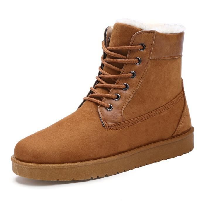 Botte Homme British Style Suede en cuir pour homme gris taille40 mAucVcRFbS