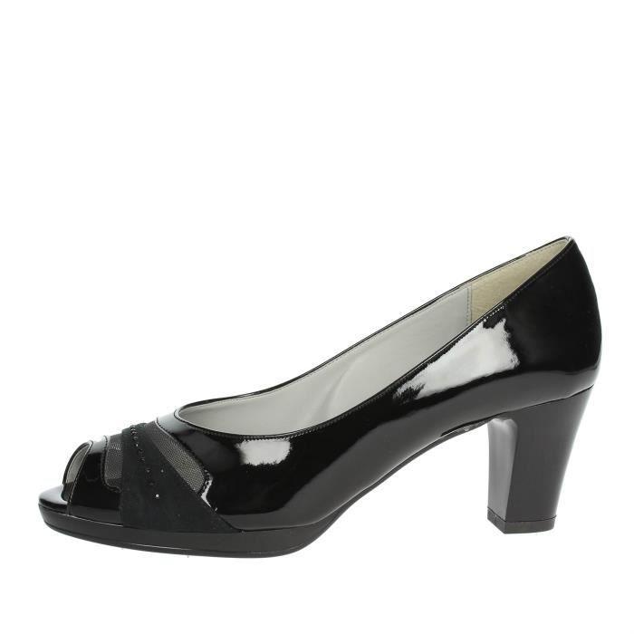 Cinzia Soft Open Toe Chaussures Femme Noir, 38