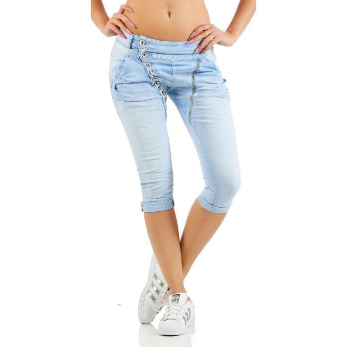 c033ae9d848 Jean Boyfriend Pour Femme En Stlye Pantalon Capri 7
