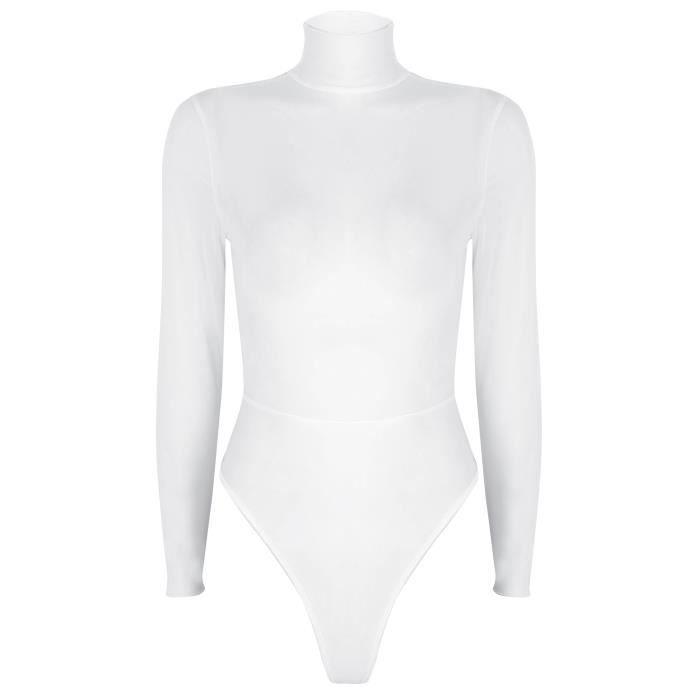 Body femme transparent manche longue - Achat   Vente pas cher 4093597041e