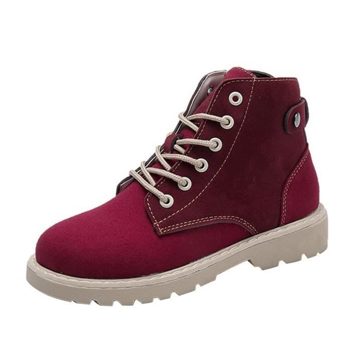 Lacets Ronde Femmes Mode Head Bottes Chaussures Martin 9824 Loisir xqfF6Inwv