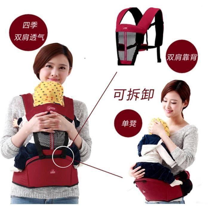 Porte-bébé en coton Confort Respirant 3 en 1 Ventral et Dorsal vite cadeau  magnifique pour bébé enfant b0a8d5bc748
