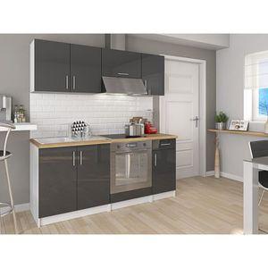meuble cuisine gris laque achat vente meuble cuisine gris laque pas cher soldes d s le 10. Black Bedroom Furniture Sets. Home Design Ideas