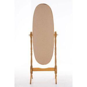 Miroir sur pied en bois achat vente miroir sur pied en for Grande glace sur pied