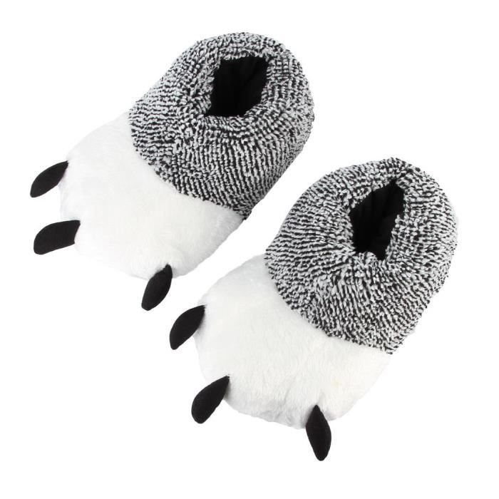 EOZY Chausson Pantoufle Femme Homme Chaussures de Antidérapant Hiver
