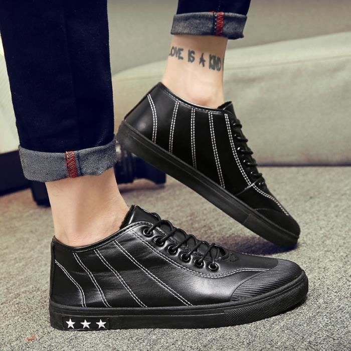 Botte Homme Korean StyleTendance High Top plates rouge taille39 t37u4