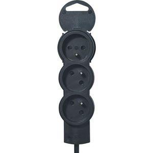 LEGRAND Rallonge multiprise standard 3x2 P+T cordon 1,5 m noir