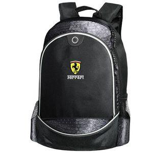 5389973f25 SAC À DOS Ferrari CARBONE UNIQUE Sac à Dos Noir Logo Brodé A