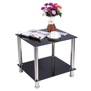 TABLE BASSE 2 Niveaux Table Basse en Verre Table de Salon Tabl