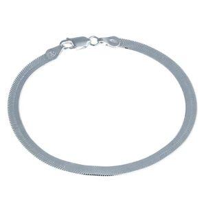 BRACELET - GOURMETTE Bracelet maille miroir en Argent fin 925/1000 19 c