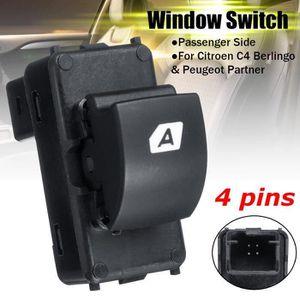 Commutateur de fen/être 1 PC d/'interrupteur de commande de vitre /électrique avant gauche pour Peugeot 207 6490HQ 66554HJ 6554.QL.
