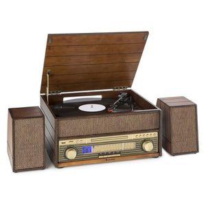 PLATINE VINYLE auna Epoque 1909 Système audio rétro  avec platine