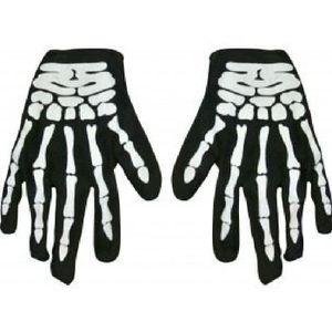 634f568b950d ACCESSOIRE DÉGUISEMENT Gant Noir motif squelette Halloween Adulte 114
