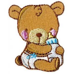 ECUSSON Lot de 3 écussons thermocollants ours avec biberon