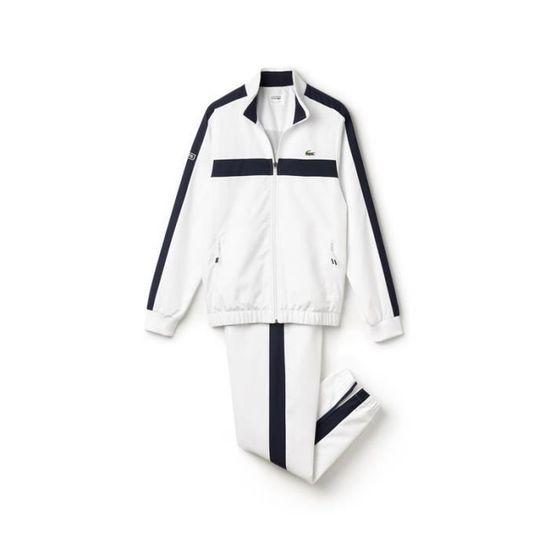 122695cfce Survêtement Lacoste blanc et bleu marine en taffetas. 100% polyester ...