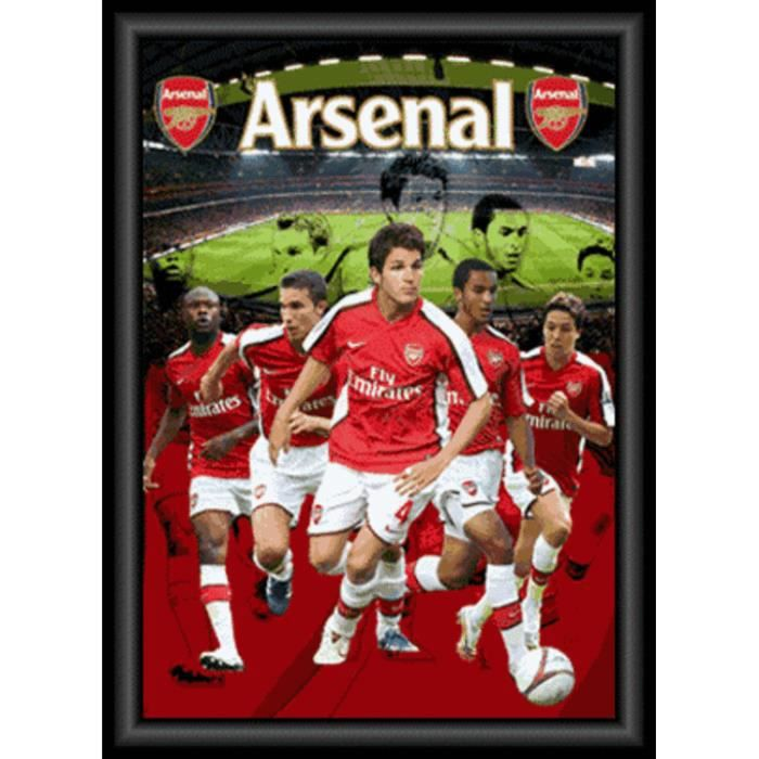 Football Poster 3D (encadré) - F.C. Arsenal Joueurs, Poster 3D Encadré (70 x 50 cm)