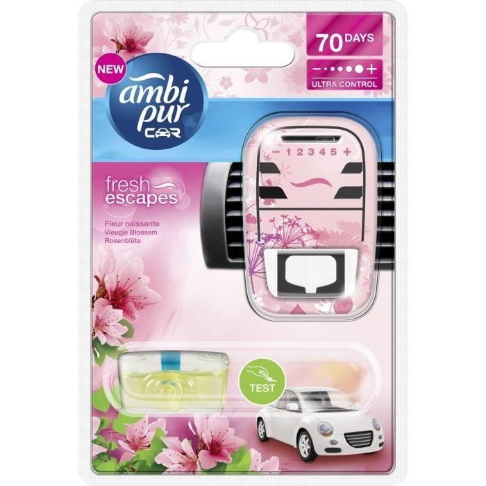 AMBI PUR Désodorisant Auto Parfum Fleur Naissante