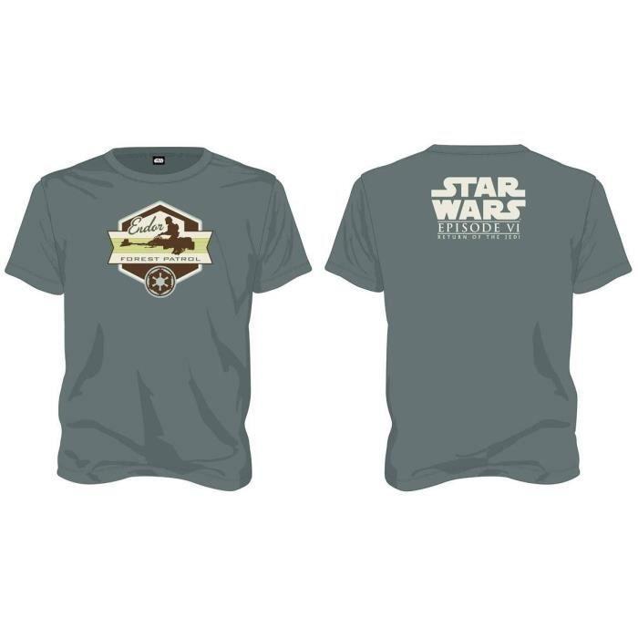 T-shirt Star Wars Forest Patrol - Homme Vert