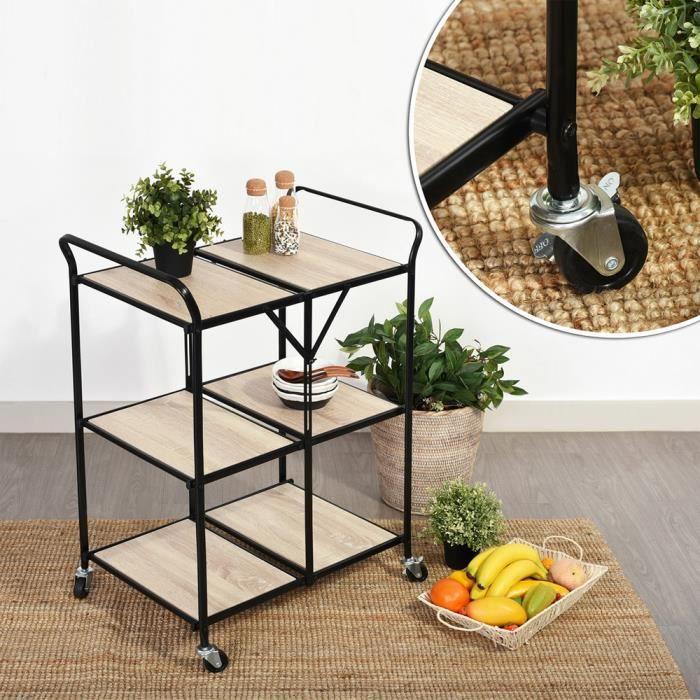 chariot de service bois achat vente chariot de service bois pas cher cdiscount. Black Bedroom Furniture Sets. Home Design Ideas
