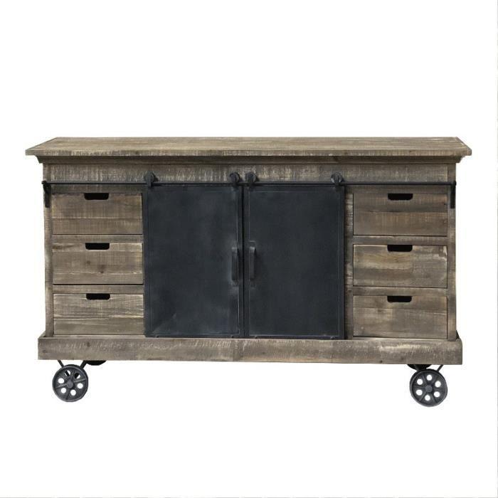 meuble industrielle a roulettes - achat / vente pas cher