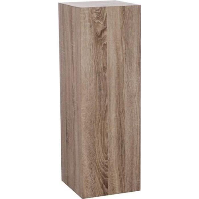 Colonne sellette carr zig zag en bois petit mod le for Meuble zig zag