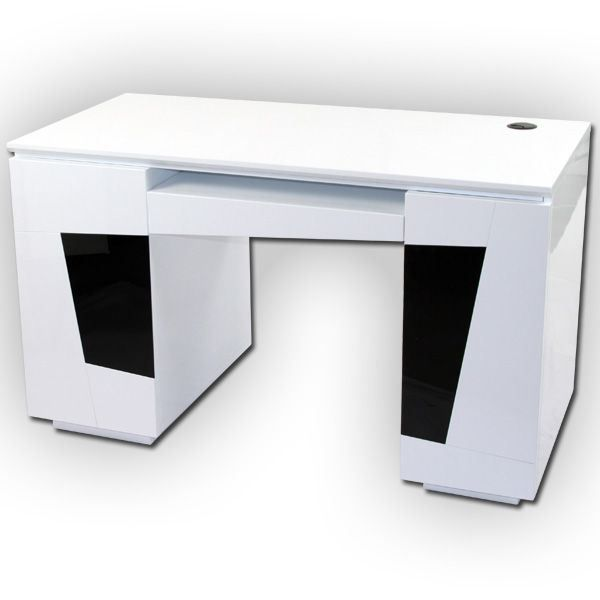 bureau laqu blanc origami achat vente bureau bureau. Black Bedroom Furniture Sets. Home Design Ideas