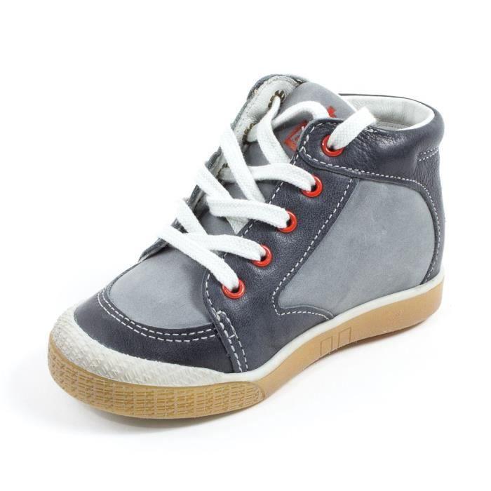 Babybotte Boots enfant garçon à lacets AIGLE gris lczCseu4