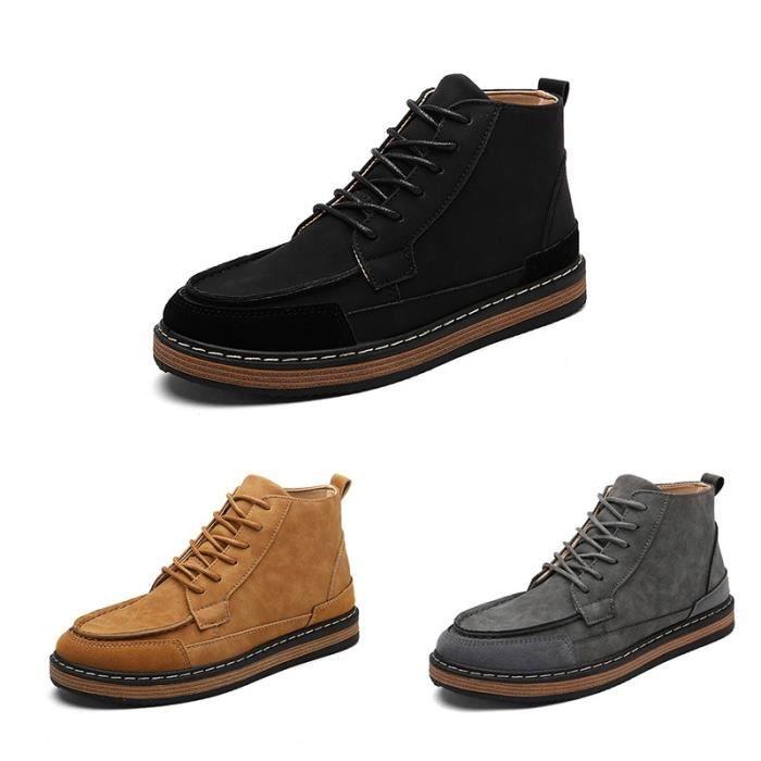 Skateshoes Homme Les étudiantsStyle Augmenté de skate interne style britannique High Top plates noir taille7 klSHScM