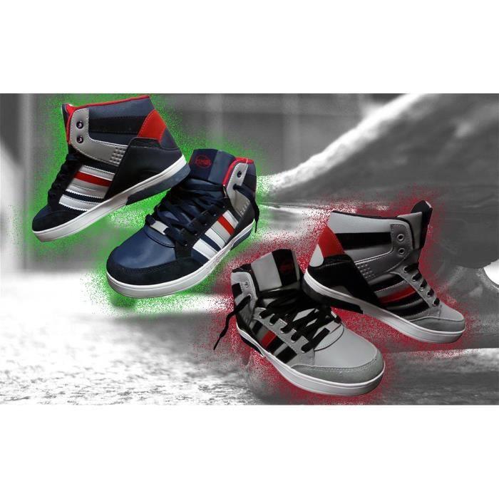 Chaussures espadrille homme modèle DURBAN à bout rond et semelle antidérapante (Gris - 40)