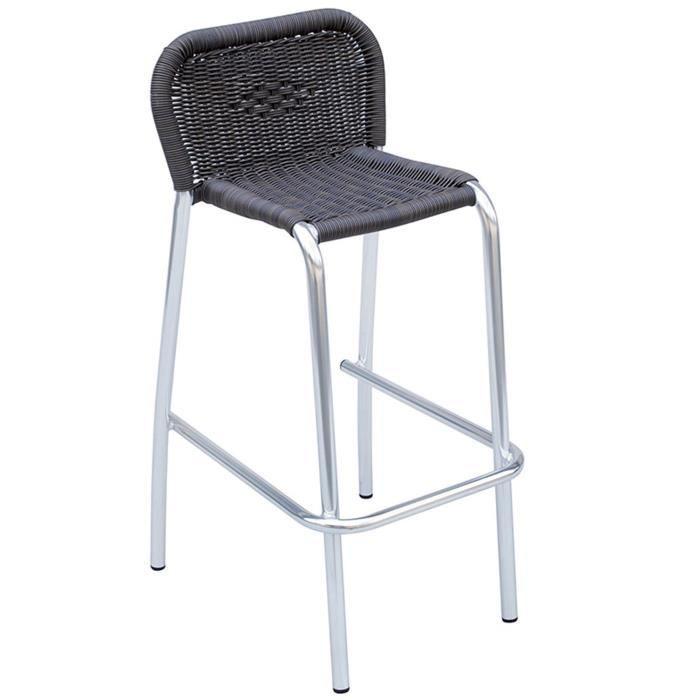 chaise de bar aluminium achat vente pas cher. Black Bedroom Furniture Sets. Home Design Ideas