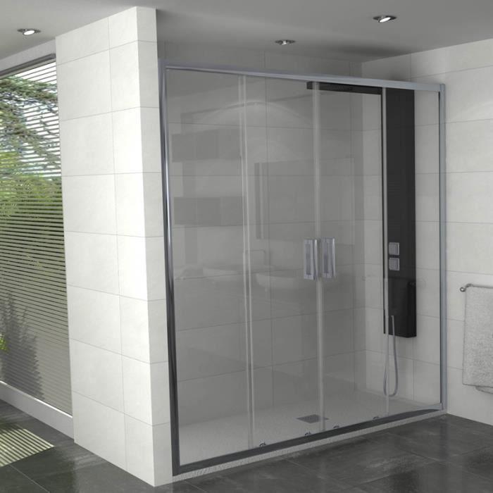 Paroi de douche coulissante manhattan 170 cm achat - Porte de douche italienne ...