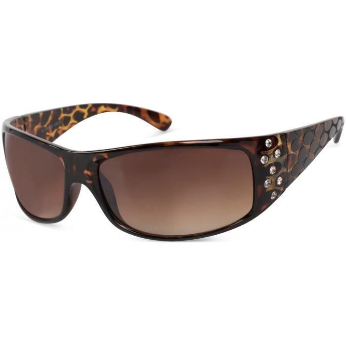 f84d4db3368 lunettes de soleil avec strass et branche large avec optique circulaire