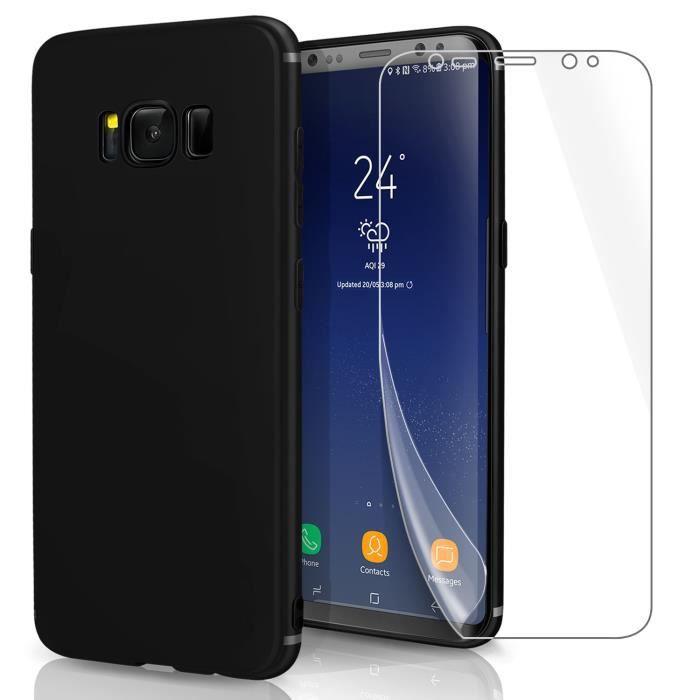 1+1  Pour Samsung Galaxy S8 Film d hydrogel PAS VERRE TREMPÉ FILM ... 476dc85f789f