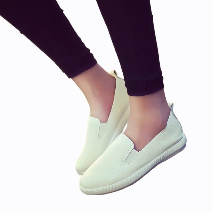 Mocassins solides Casual Femmes Chaussures plat...
