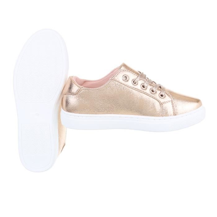 Chaussures femme chaussures sportSneakers Chaussures de sport rose or 41