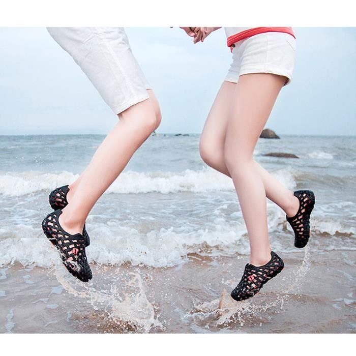 Minetom Unisexe Été Coloré Antidérapant Respirant Creux Sandales Chaussons Flip Flops Tongs Pluie Plat Chaussures Plage