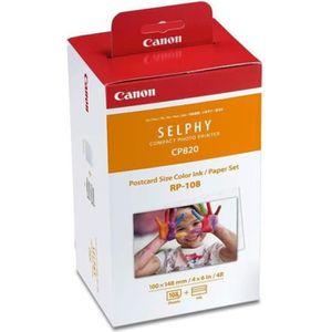 CANON RP-108 Kit cassette ? ruban d'impression + papier - 108 tirages - format carte postale 10 x 14,8 cm