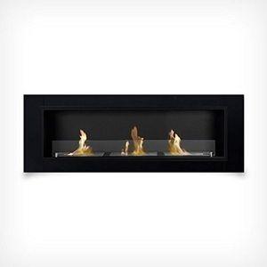 CHEMINÉE 136 cm luxe Gel Cheminée cheminée murale foyer au