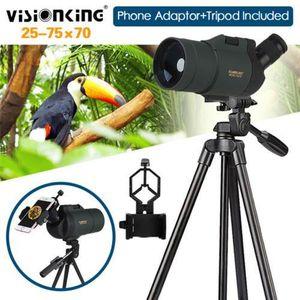 LONGUE-VUE Visionking 25-75X70 Zoom Télescope Monoculaire + A