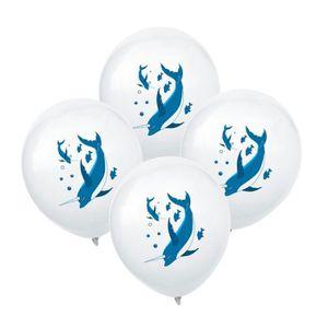 BALLON DÉCORATIF  10 Pcs Fête D'anniversaire Décoration Ballon Narwh